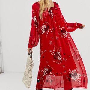 Asos Maxi Red Dress